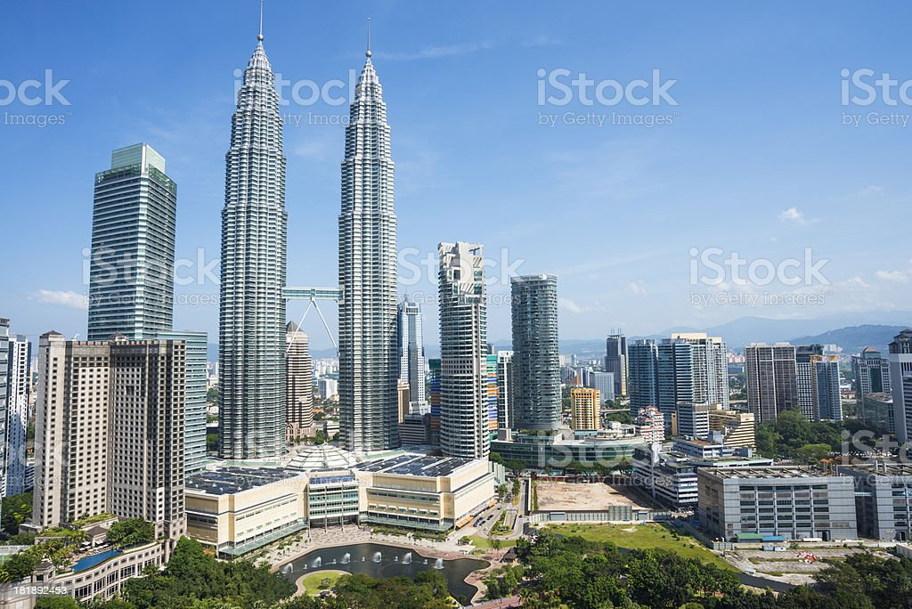 cityscape of kuala lumper royalty-free stock photo