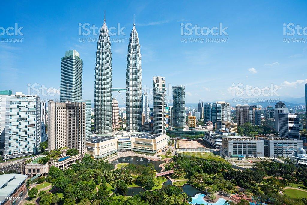 cityscape of kuala lumper stock photo