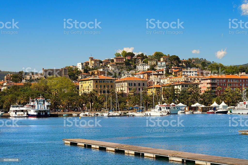 Cityscape of La Spezia - Liguria Italy stock photo