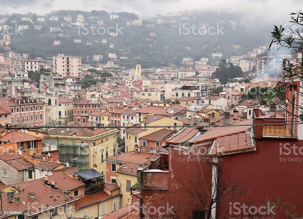 Cityscape of Lerici, Liguria, Italy, Europe stock photo