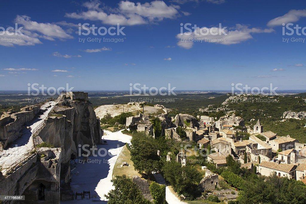 Cityscape of Les Baux De Provence stock photo