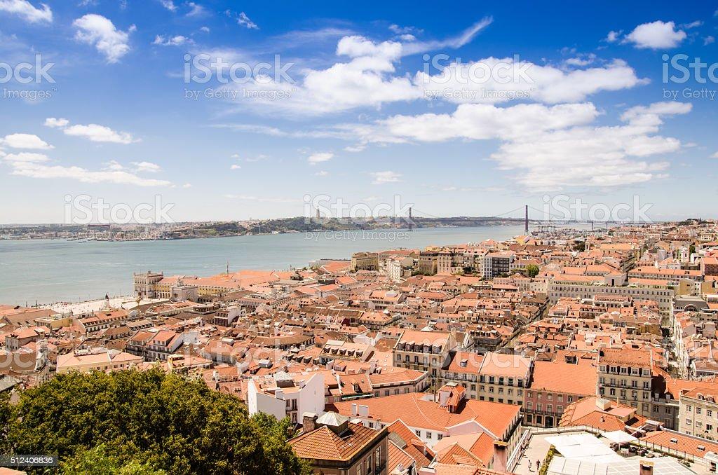 cityscape of lisbon stock photo