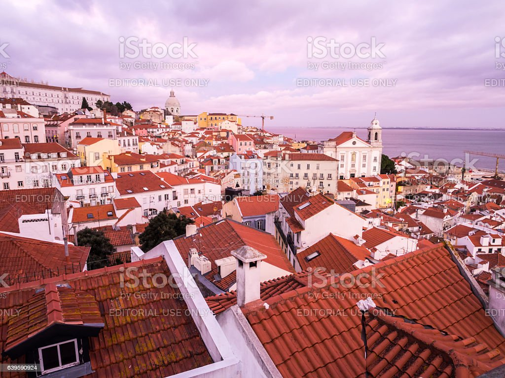 Cityscape of Lisbon, Portugal stock photo