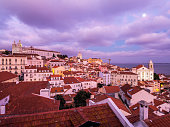 Cityscape of Lisbon, Portugal, seen from Portas do Sol