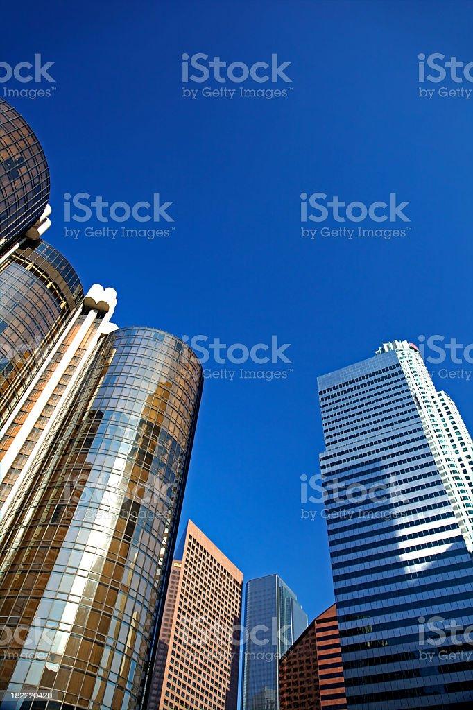 Cityscape of Los Angeles stock photo