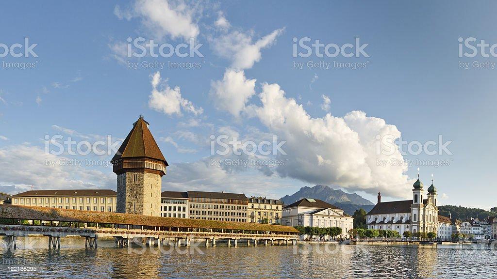 Cityscape of Lucerne, Switzerland stock photo