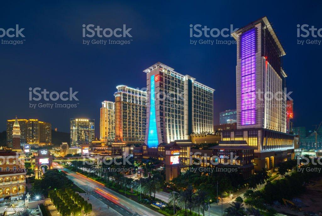 Cityscape of Macao, Asia stock photo