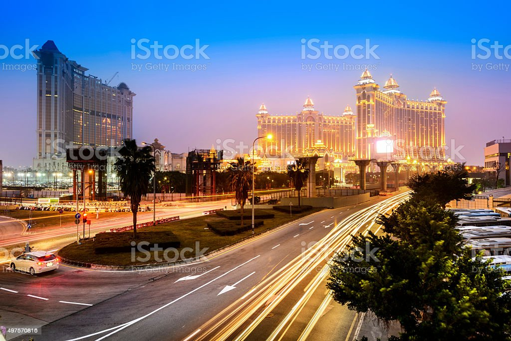Cityscape of Macau stock photo