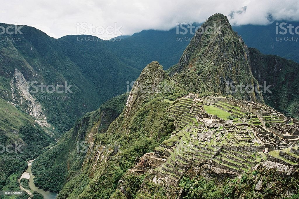 Cityscape of Machu Picchu royalty-free stock photo