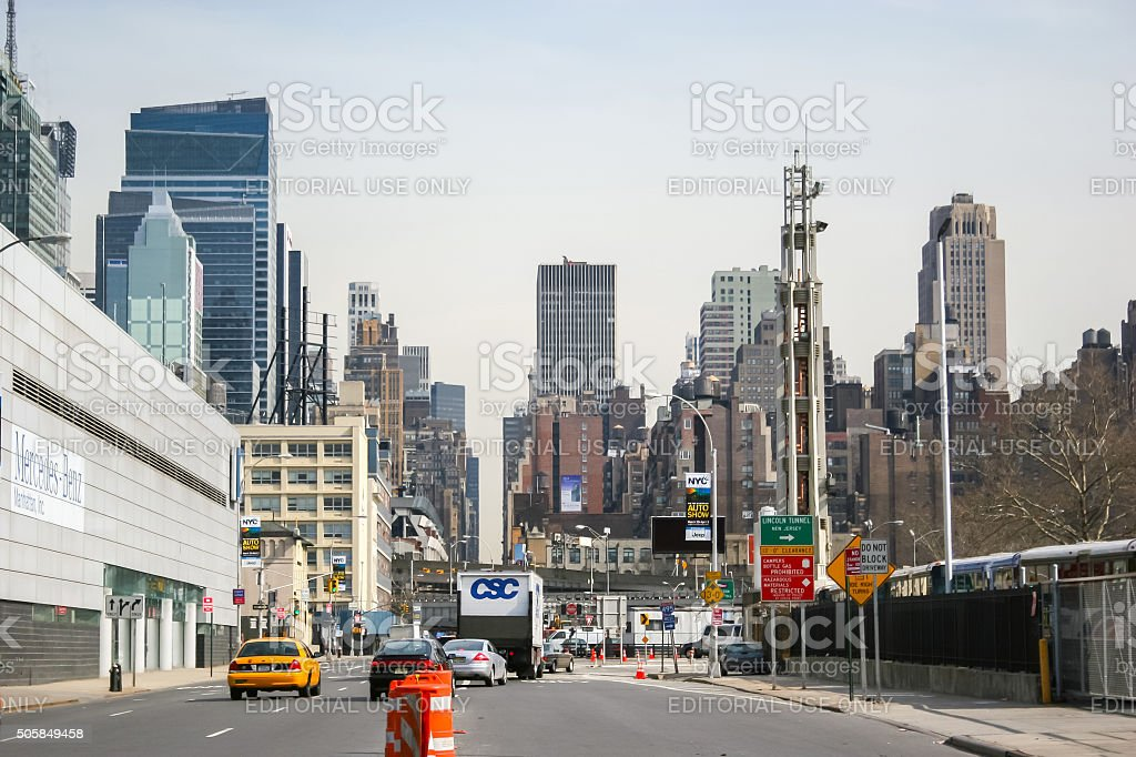 Cityscape of Manhattan stock photo