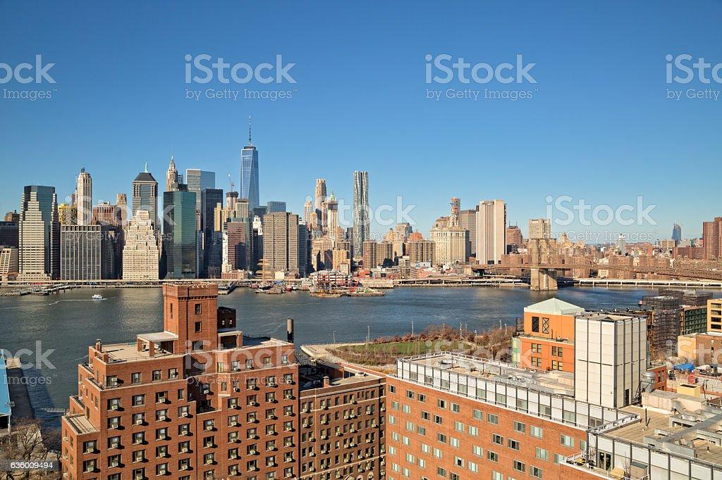 Cityscape of Manhattan stock photo