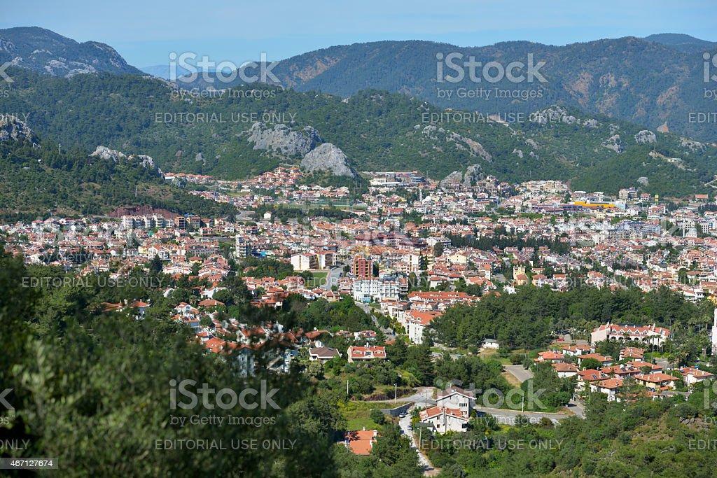 Cityscape of Marmaris, Turkey stock photo