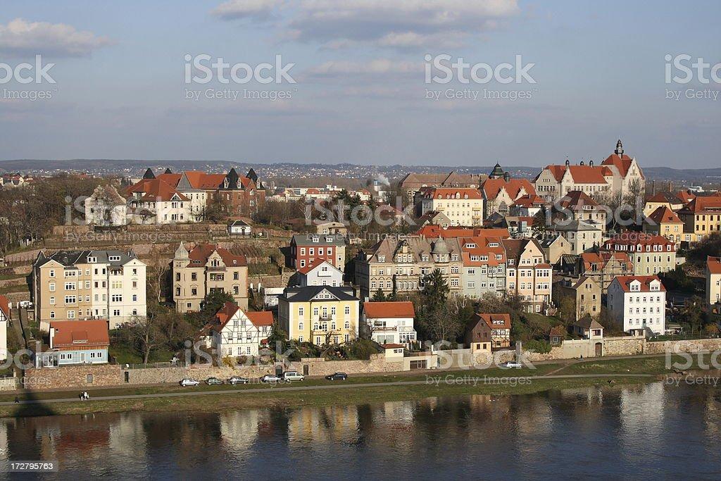 Cityscape of Meissen (Saxony, Germany). royalty-free stock photo