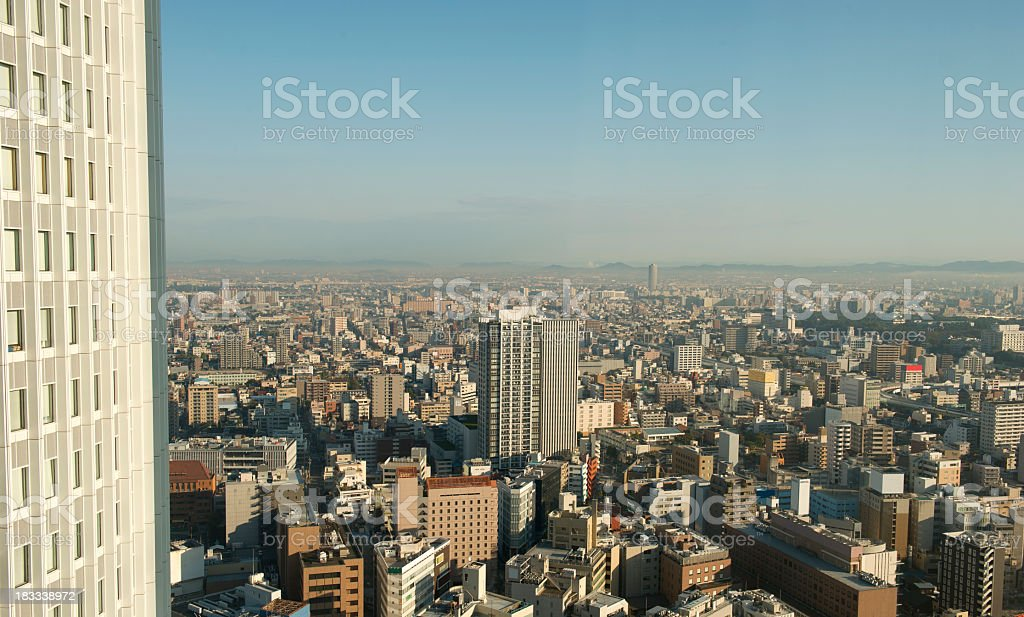 Cityscape of Nagoya,Japan royalty-free stock photo