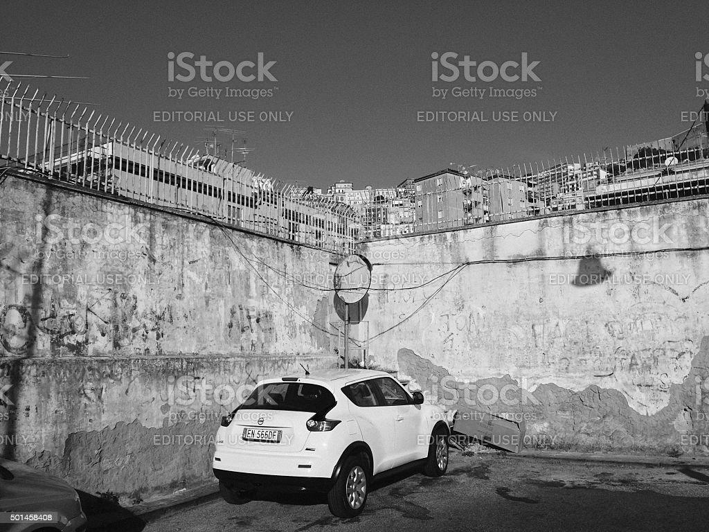 Cityscape of Naples, Italy stock photo