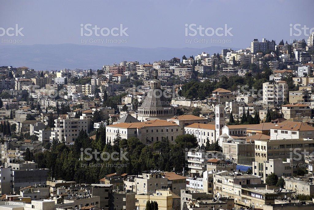 Cityscape of Nazareth Israel stock photo