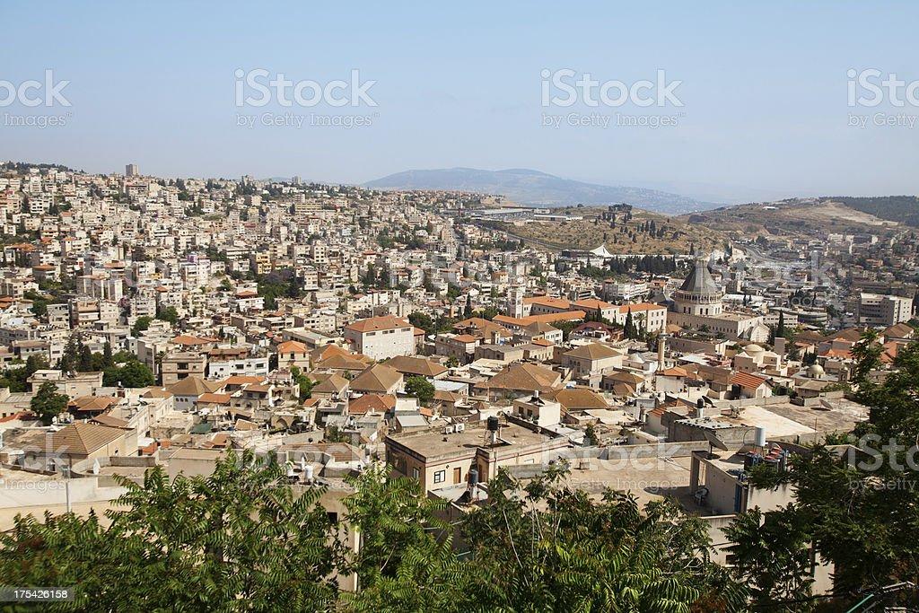 Cityscape of Nazareth stock photo