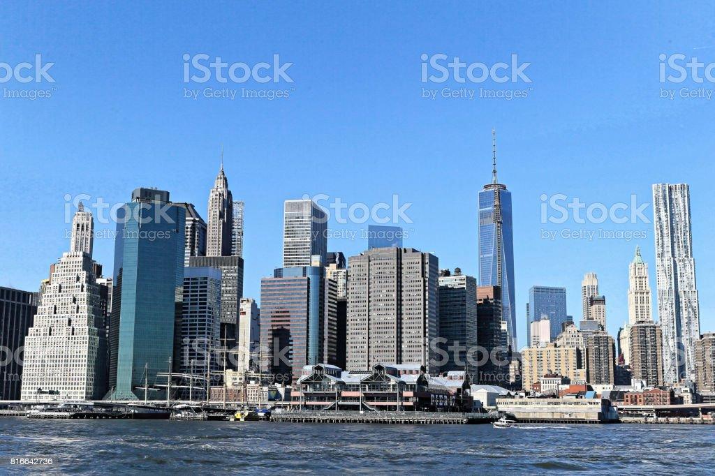 Cityscape of New York City, USA stock photo