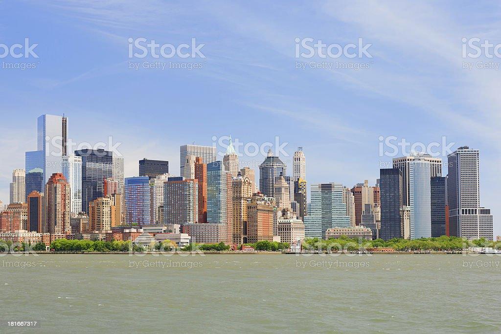 Cityscape of New York royalty-free stock photo
