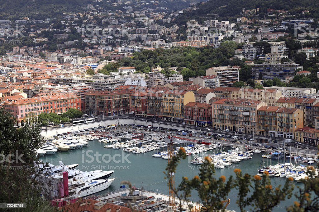 Cityscape of Nice(France), harbor view from above royalty-free stock photo