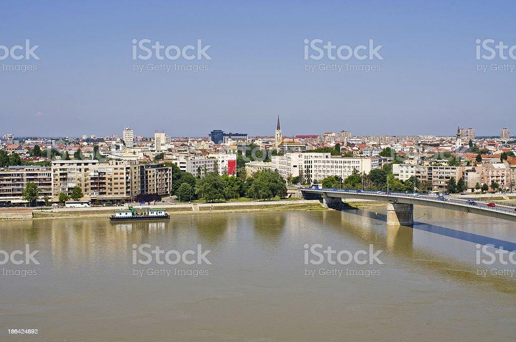Cityscape of Novi Sad, Serbia stock photo