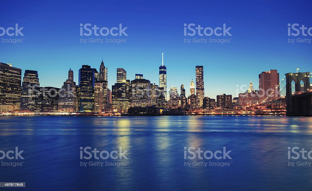 Cityscape of NYC royalty-free stock photo