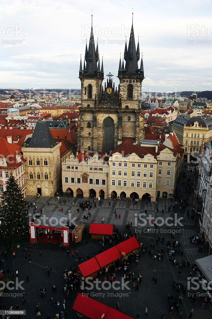 Cityscape of old Prague royalty-free stock photo