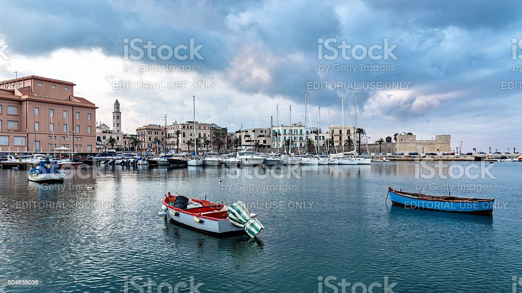 cityscape of old town and seafront stock photo