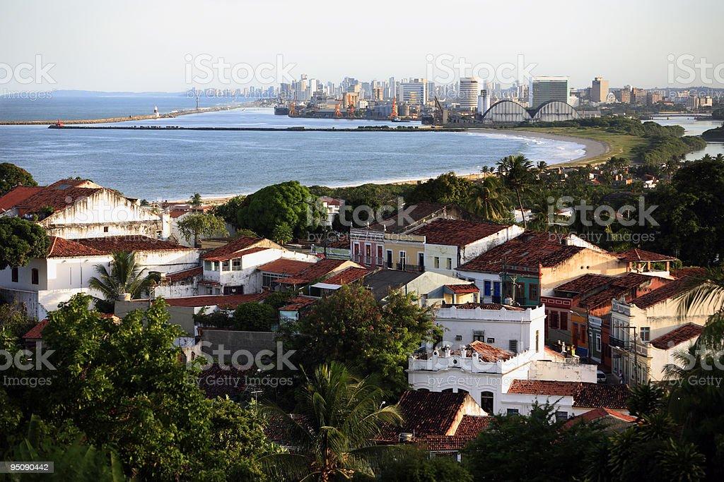 cityscape of olinda and recife pernambuco state brazil stock photo