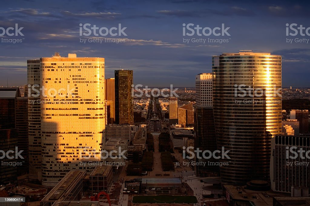 Cityscape of Paris at Dawn royalty-free stock photo