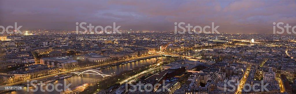 Cityscape of Paris at Night (XXL) royalty-free stock photo