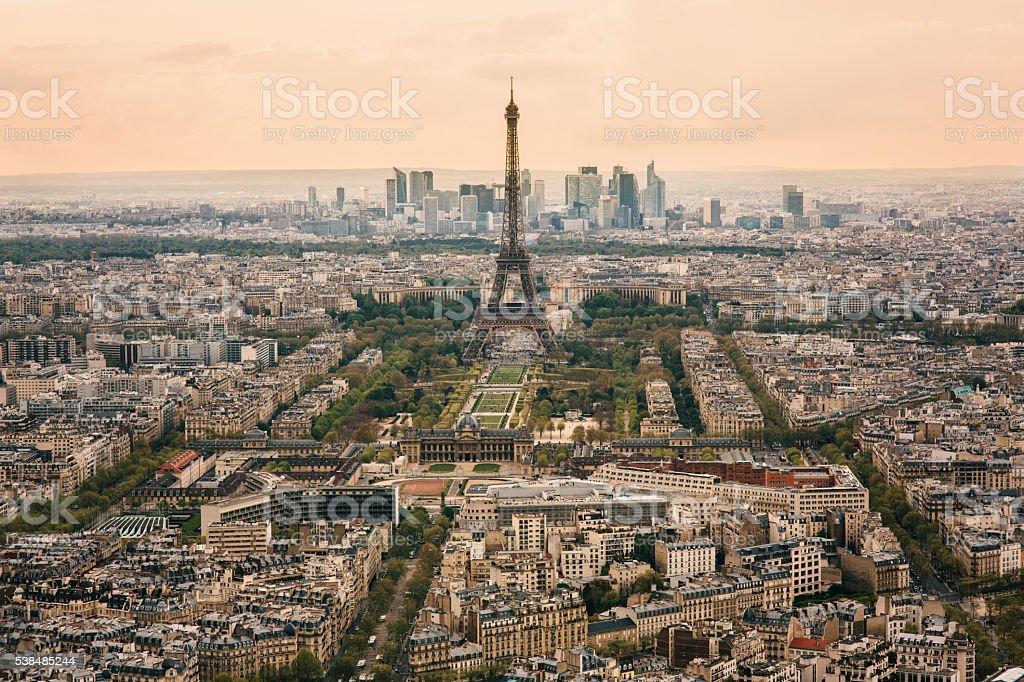 Cityscape of Paris stock photo