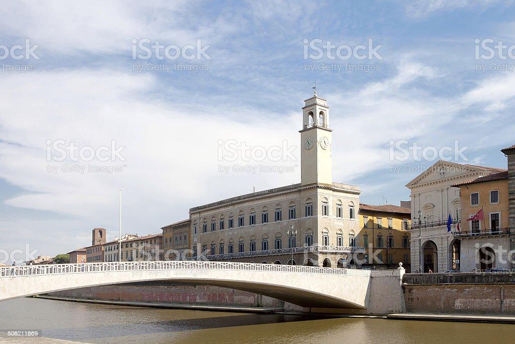 Cityscape of Pisa, Italy stock photo