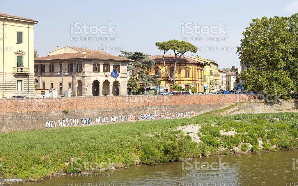 Cityscape of Pisa stock photo