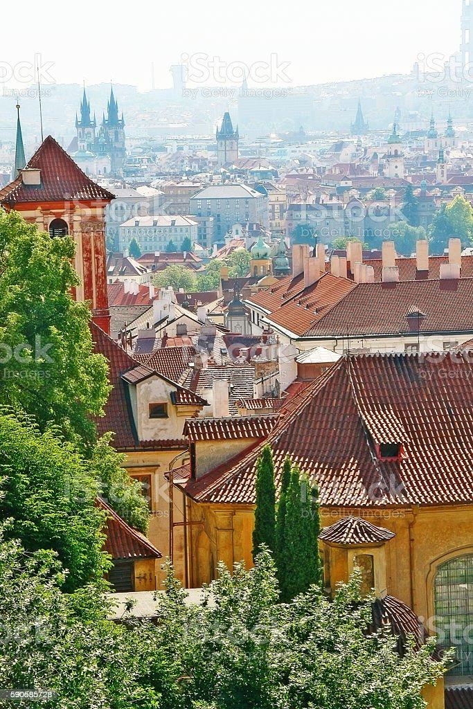 Cityscape of Prague (Praha), Czech Republic (Ceska Republika), Bohemia region stock photo
