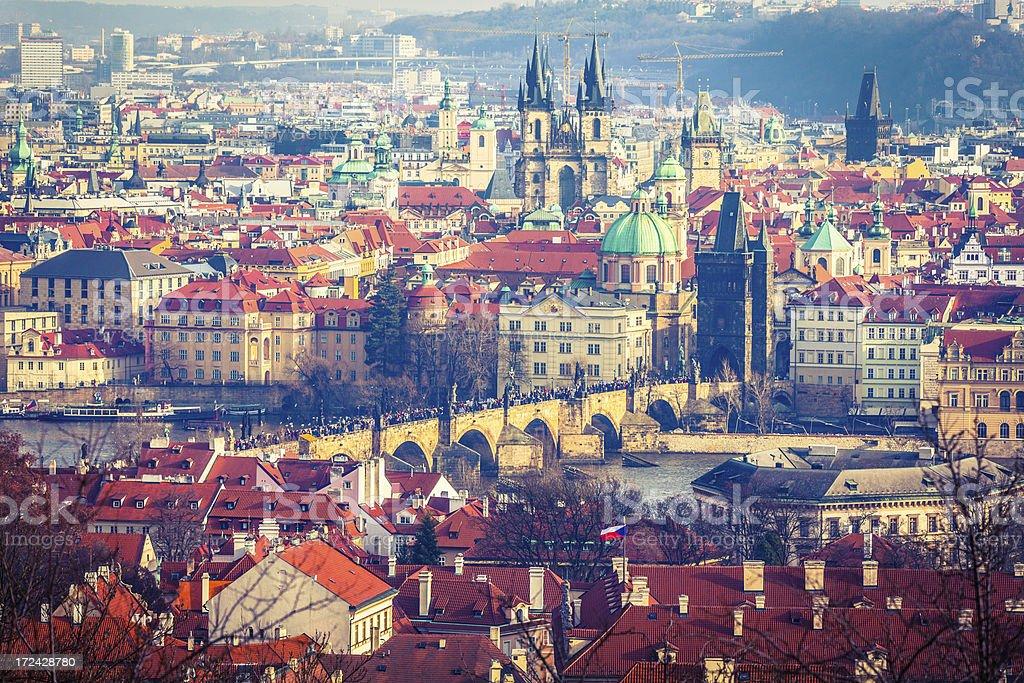Cityscape of Prague, Czech Republich royalty-free stock photo