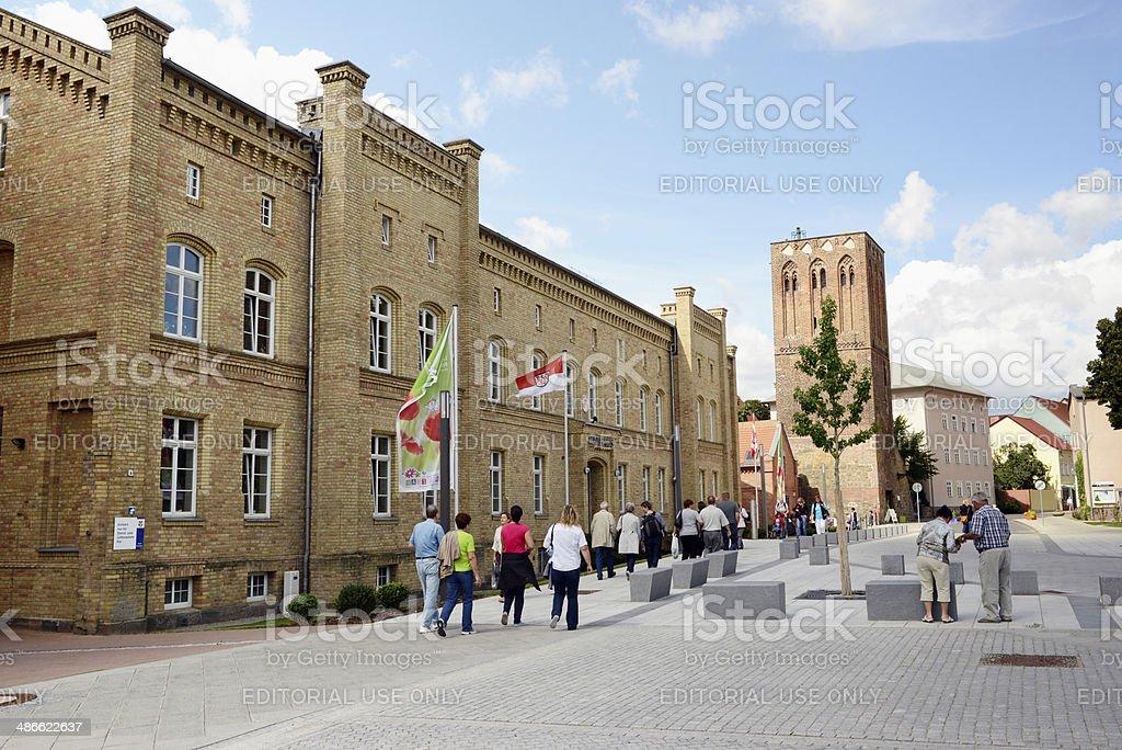 cityscape of Prenzlau (Germany) stock photo