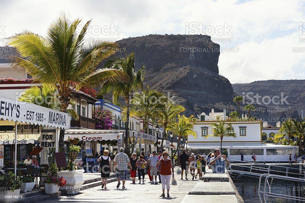 Cityscape of Puerto de Mogan in Gran Canaria (Spain) stock photo