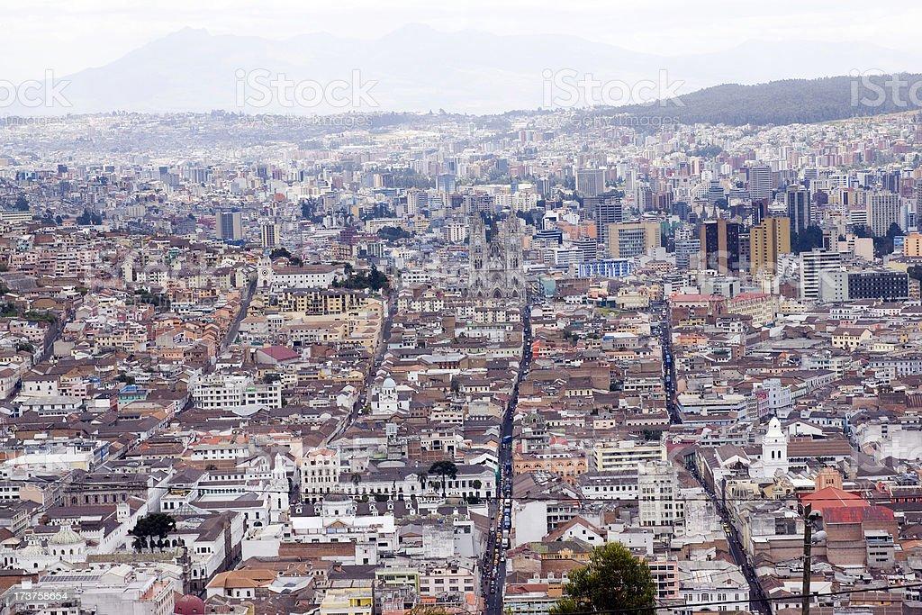 Cityscape of Quito stock photo