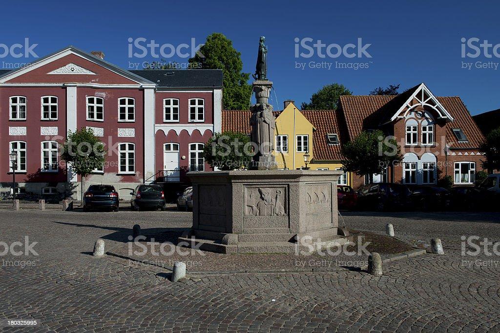 Cityscape of Ribe, Denmark stock photo