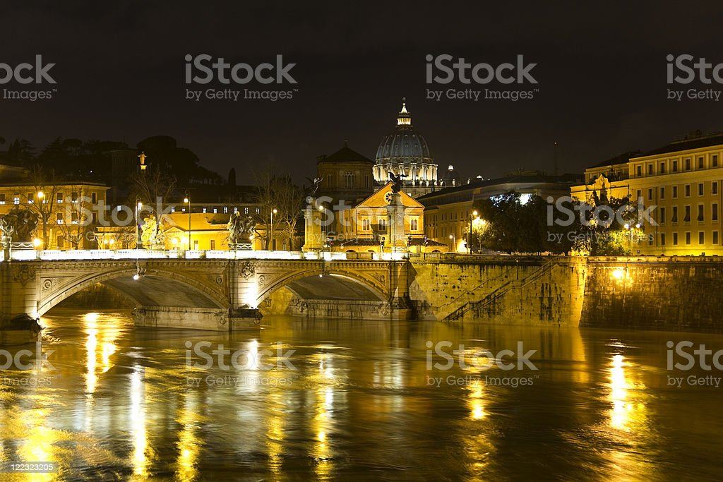 cityscape of Rome royalty-free stock photo