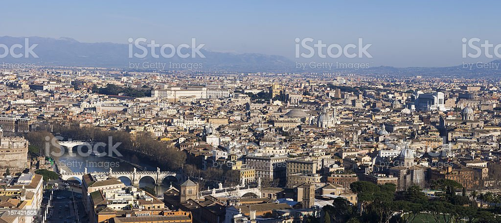 Cityscape of Rome royalty-free stock photo