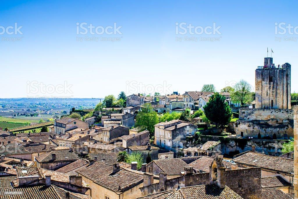 cityscape of Saint-Emilion near Bordeaux, France stock photo