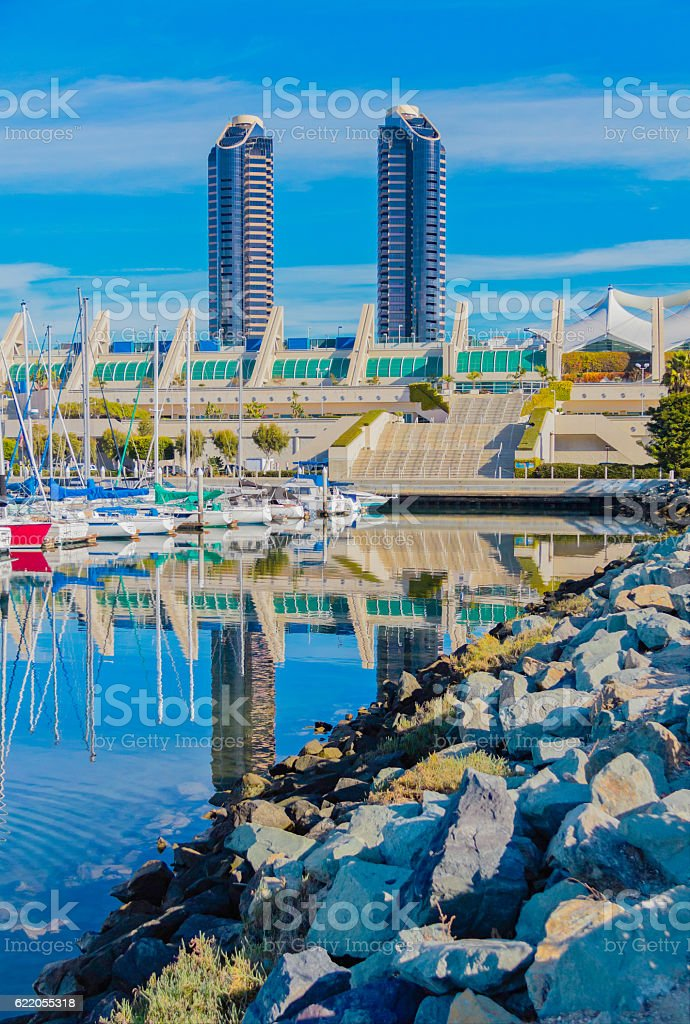 Cityscape of San Diego Skyline, California  (P) stock photo