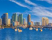 Cityscape of San Diego Skyline, California