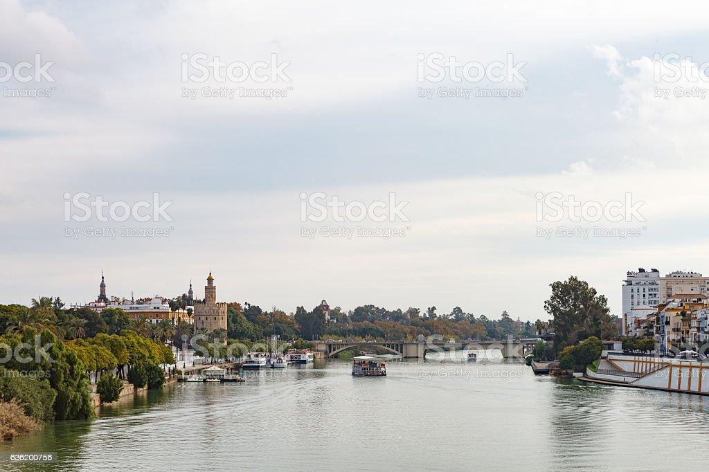 Cityscape of Sevilla stock photo