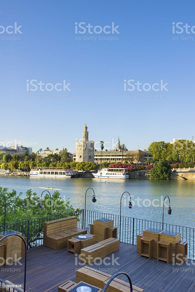 cityscape of Seville, Spain royalty-free stock photo