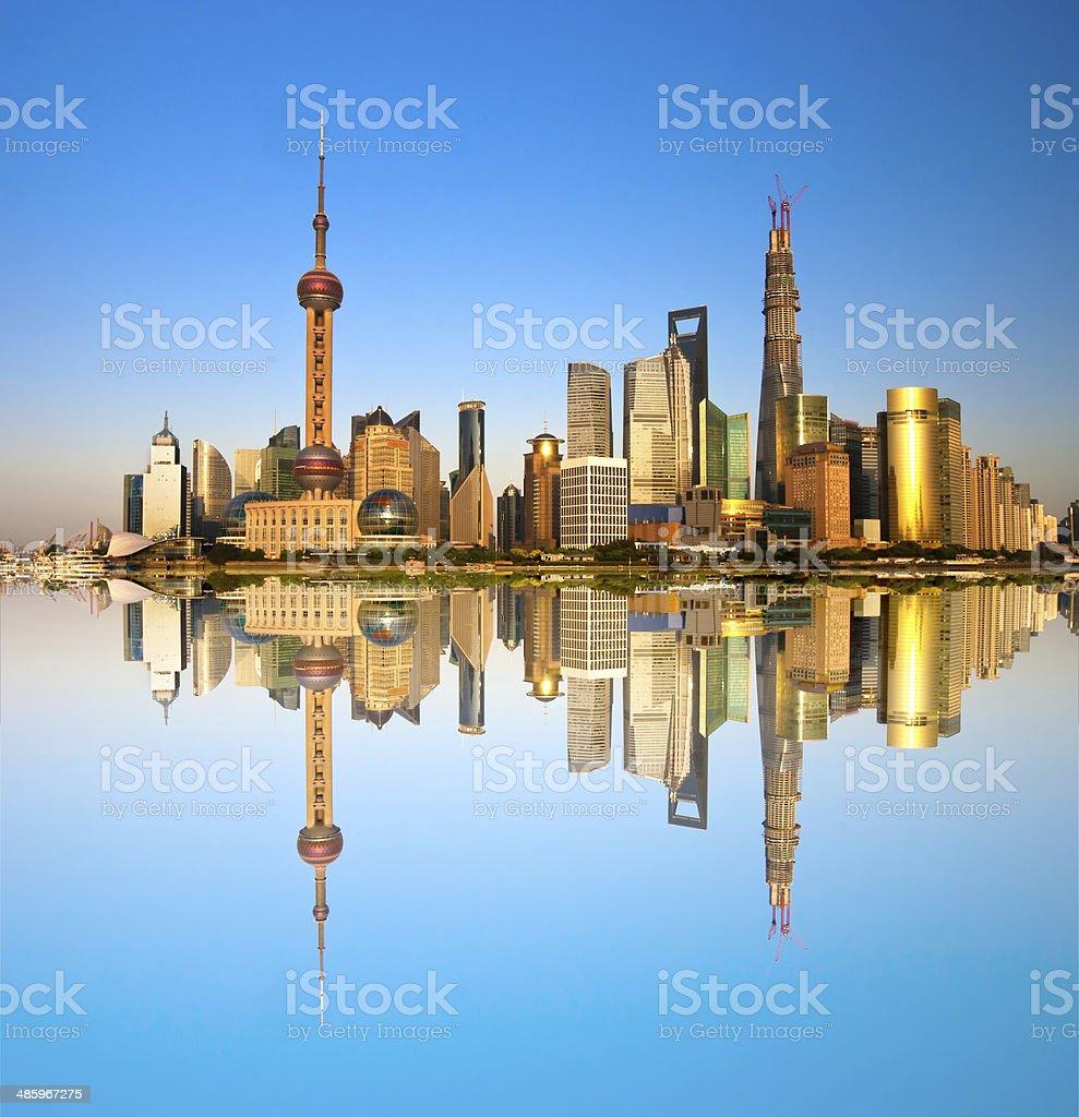 Cityscape of Shanghai Chinese stock photo