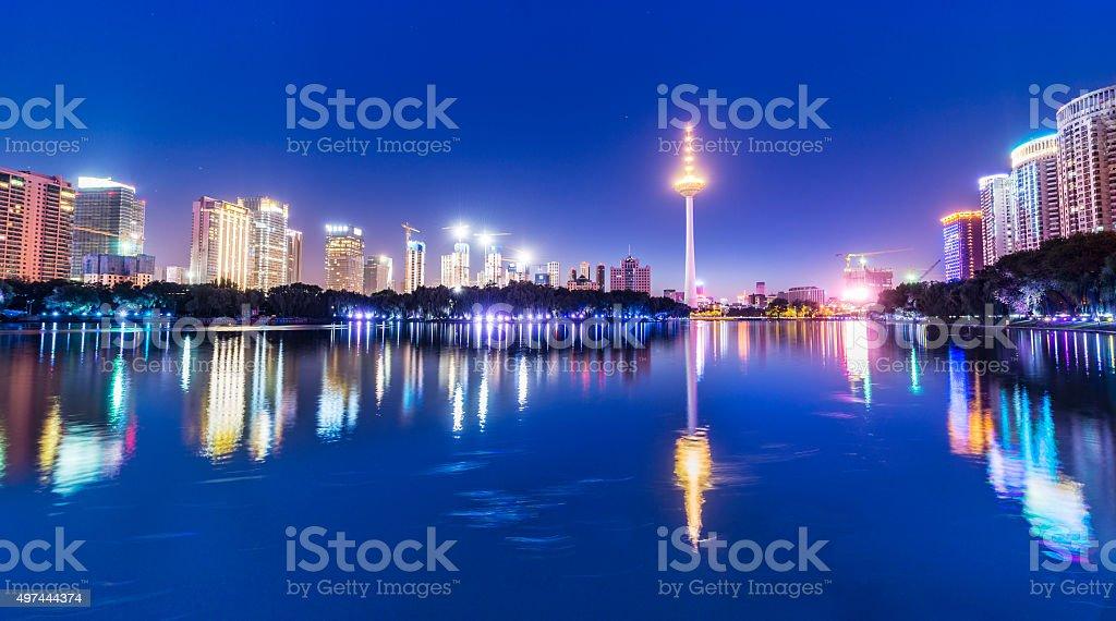 Cityscape of Shenyang stock photo