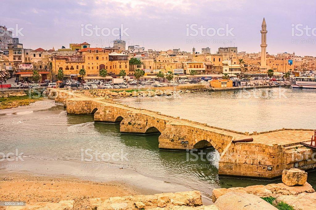 Cityscape of Sidon Saida Lebanon stock photo